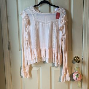 Cream top with Ruffles